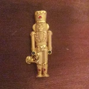Toy Soldier Christmas Pin